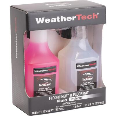 WeatherTech TechCare 18 Oz. Liquid Floorliner & Floormat Auto Interior Cleaner and 18 Oz. Liquid Pro
