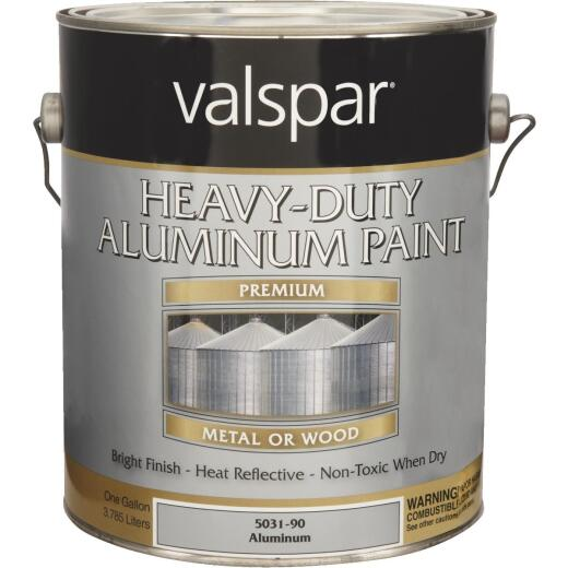 Valspar Gallon Aluminum HD Resin Finish Aluminum Paint